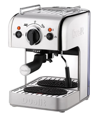 Dualit 3 in 1 Espresso coffee machine with NX adapter - Electra-craft.com