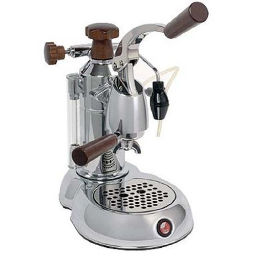 la pavoni stradavari lever espresso machine 8 cup capacity w rosewood handles electra. Black Bedroom Furniture Sets. Home Design Ideas